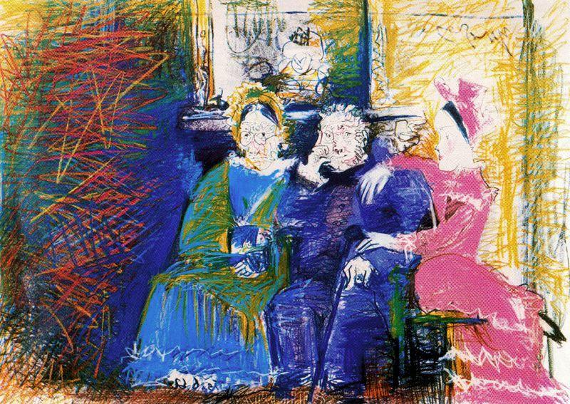 Пабло Пикассо. Семейный портрет