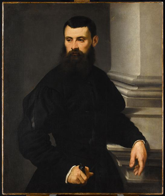 Jacopo (Robusti) Tintoretto. Portrait of a Nobleman, His Hand Resting on a Sword