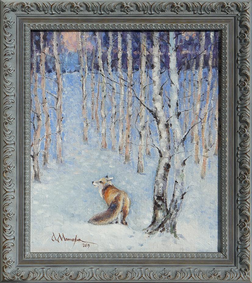Alexander Matyukhin. 2019. Fox in the forest (35x30 cm)