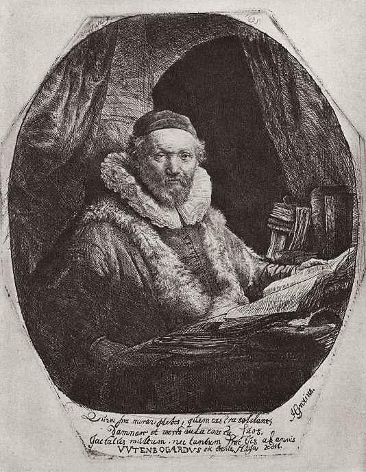 Рембрандт Харменс ван Рейн. Портрет Яна Эйтенбогарта