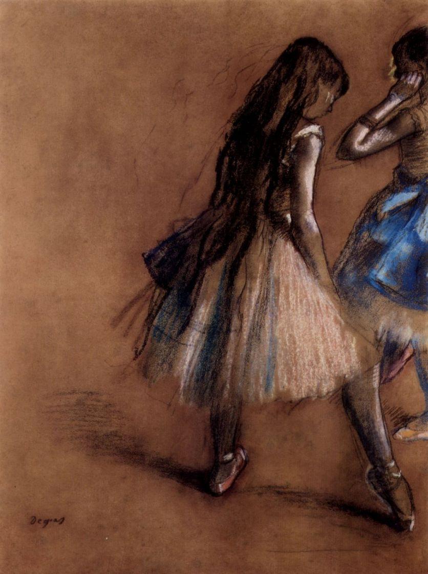 Edgar Degas. Two ballerinas