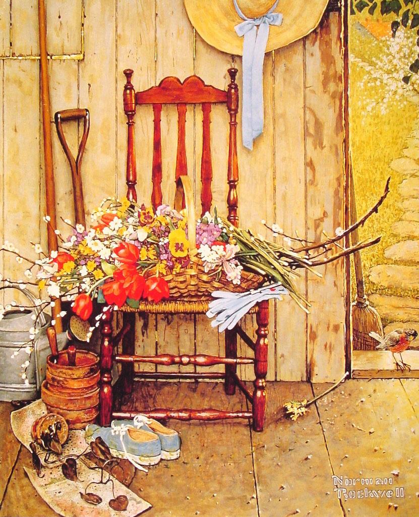 Норман Роквелл. Весенние цветы