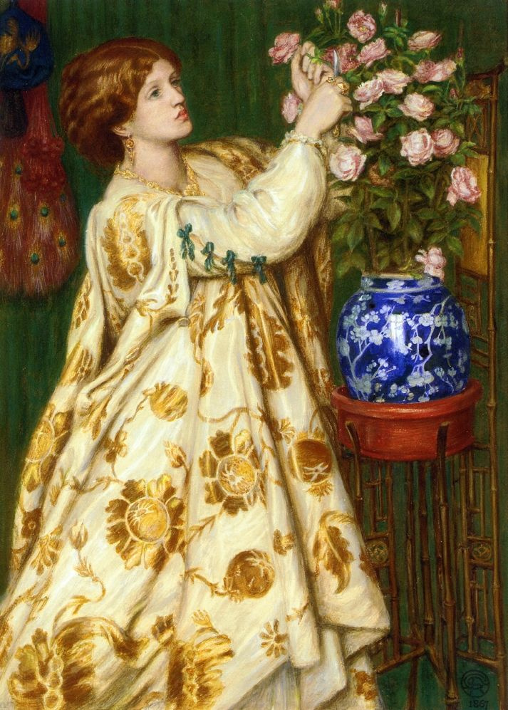 Dante Gabriel Rossetti. Monna Rosa (portrait of Frances Leyland)