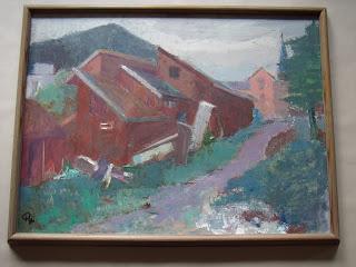 Unknown artist. Norwegian landscape.