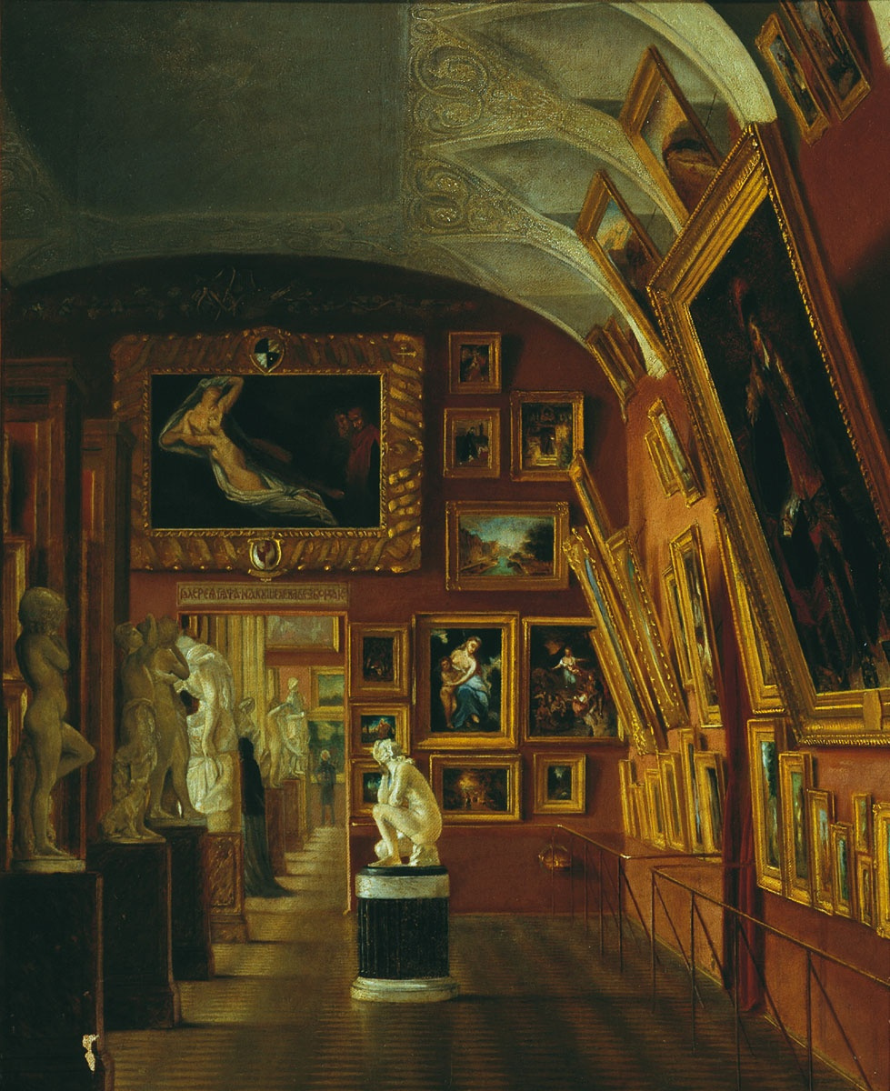 Карл-Фридрих Петрович Бодри Россия 1812- 1894. Academy of Arts. Gallery of Count Kushelev-Bezborodko. Mid 19th century