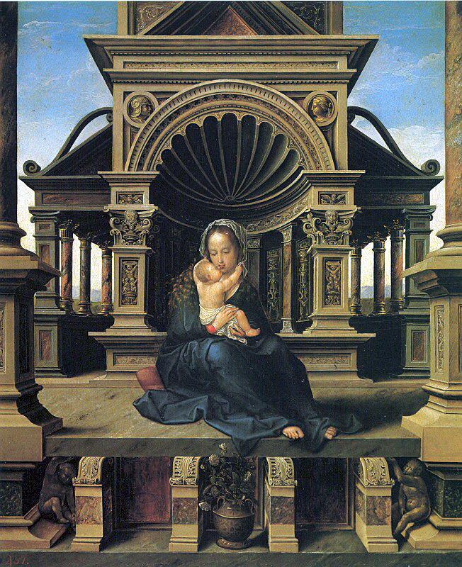 Баренд ван Орли. Мария с младенцем