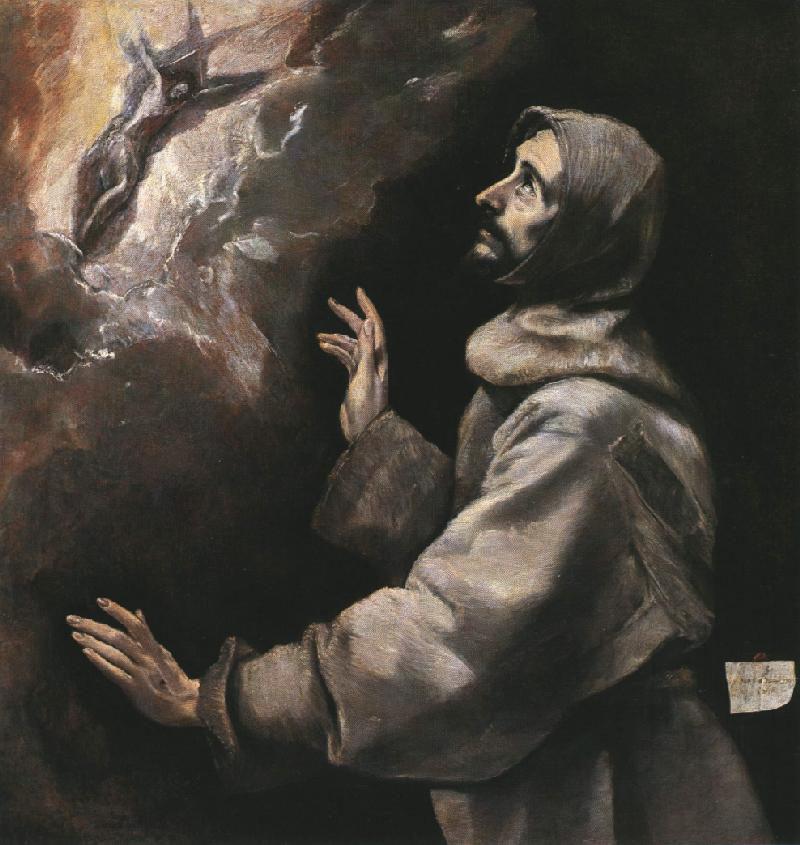 Domenico Theotokopoulos (El Greco). Saint Francis Receiving the Stigmata