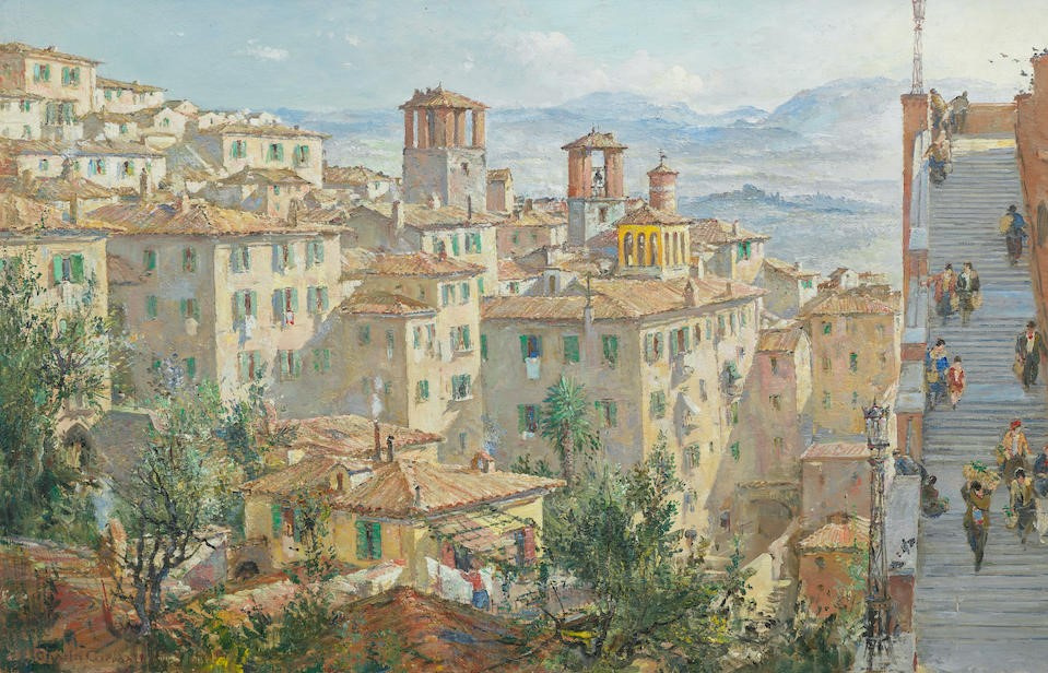 Charles Candall. To the market, Perugia