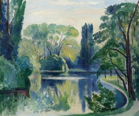 Henri Manguin. Lake St. James, Bois de Boulogne