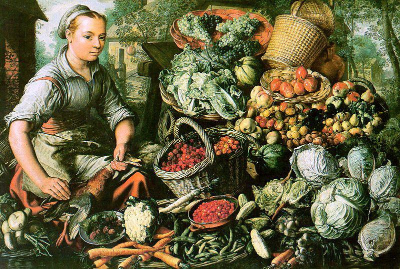 Иоахим Беуккелаеп. Корзины с фруктами