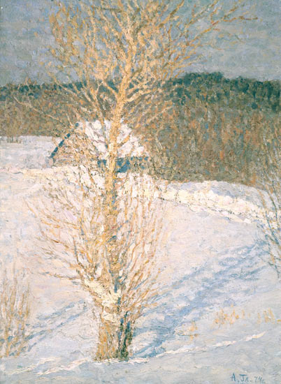 Alexey Leonidovich Glandin. Winter noon(poplar)