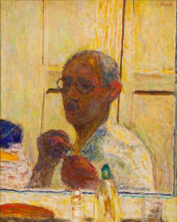 Pierre Bonnard. Self-portrait in the mirror