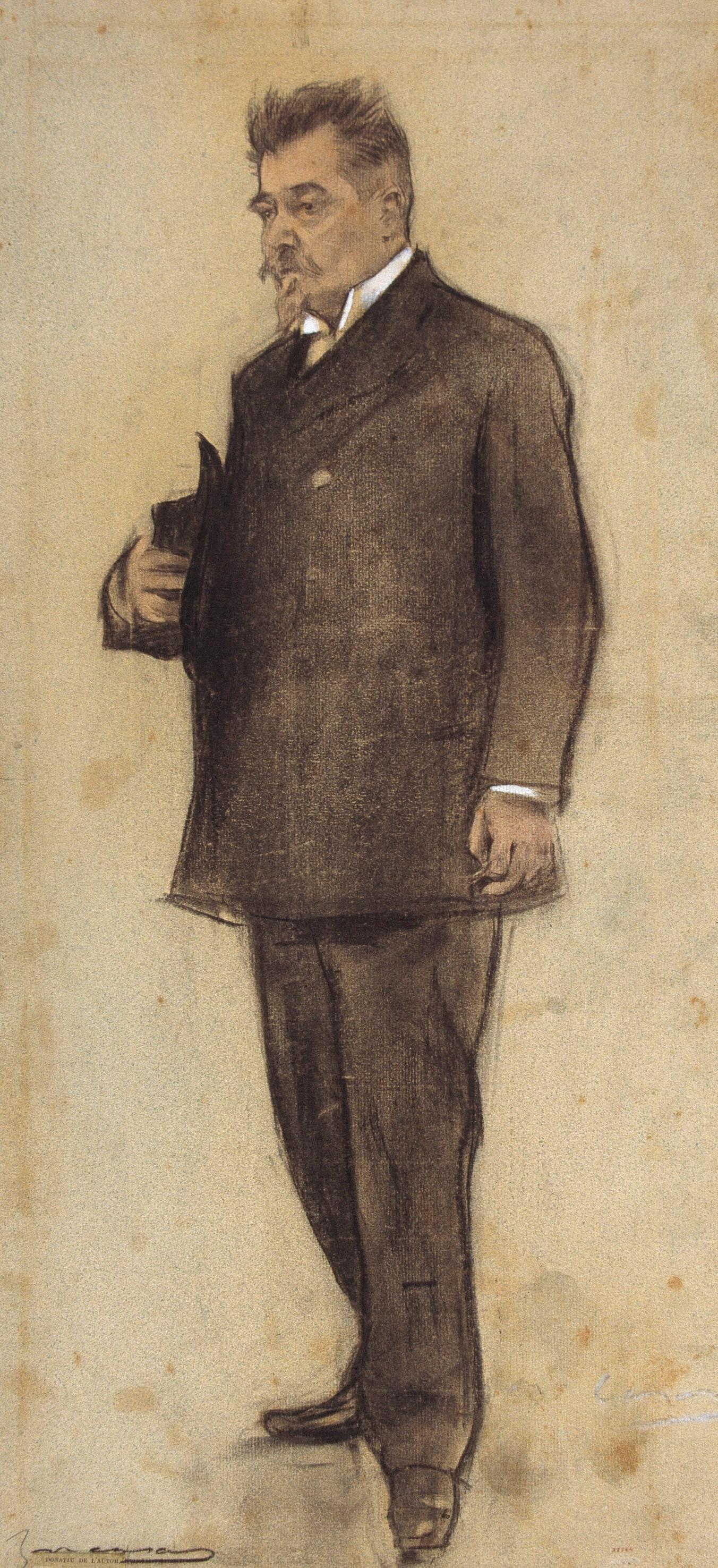 Ramon Casas i Carbó. Portrait of Emil Vilanova
