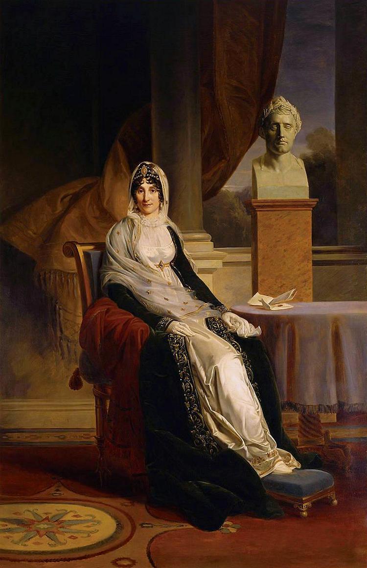 Francois Pascal Simon Gerard. Portrait of Marie-Letizia Bonaparte, née Ramolino