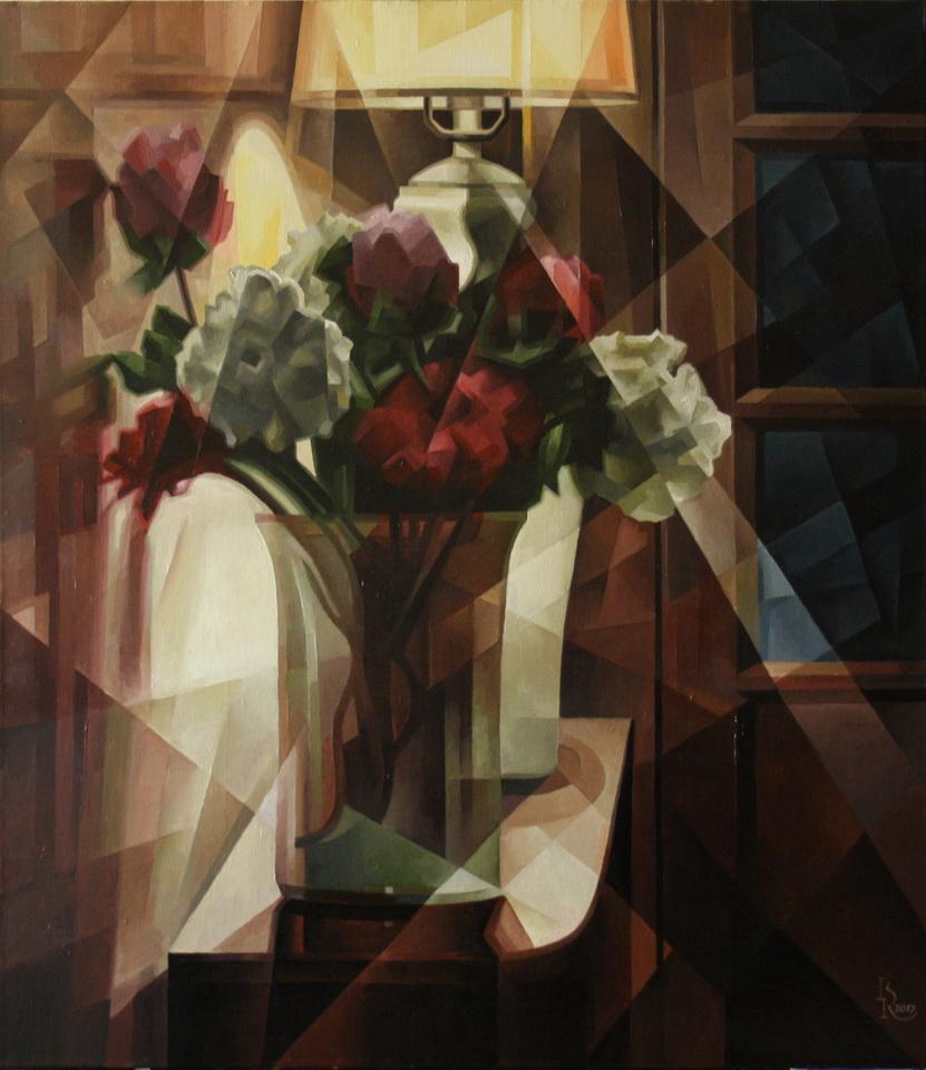 Vasily Krotkov. Night Post-kubofuturizm