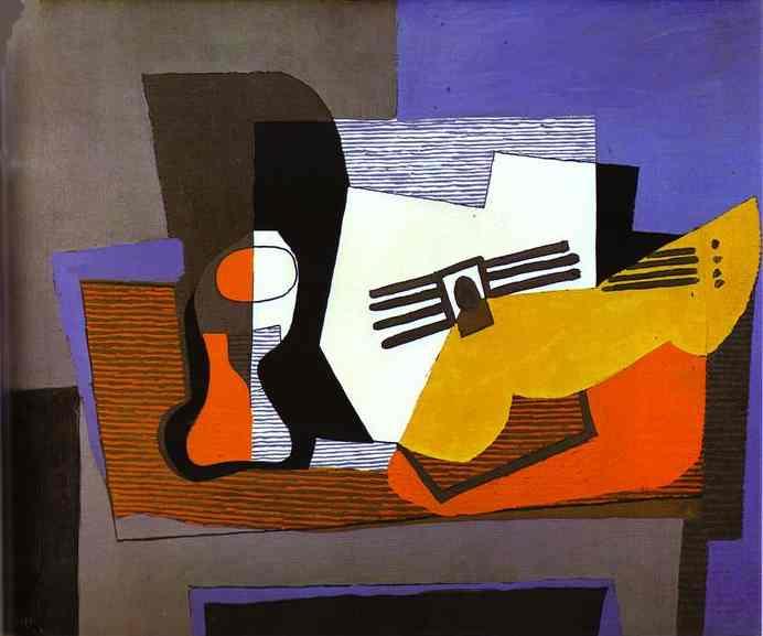 Пабло Пикассо. Натюрморт с гитарой
