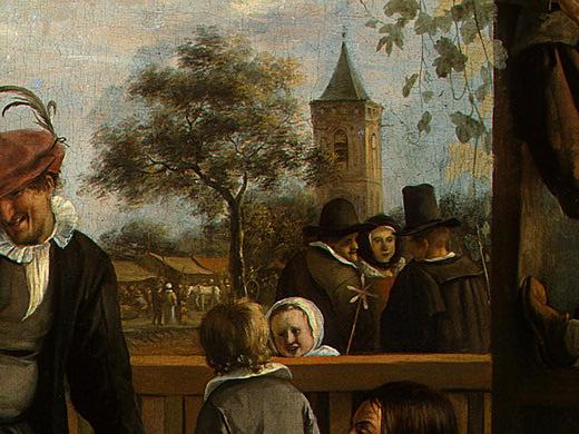 Jan Steen. Dancing couple (detail 1)