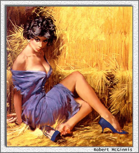 Robert McGinnis. In the hay