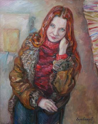Oksana Viktorovna Zalevskaya. Portrait of Tatiana Fadeeva.