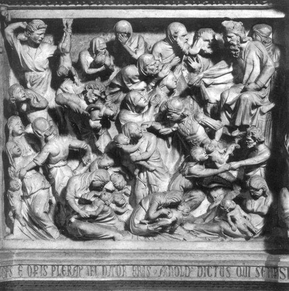 Giovanni Pisano. Massacre of the innocents. Relief of the pulpit of the Church of Sant Andrea in Pistoia