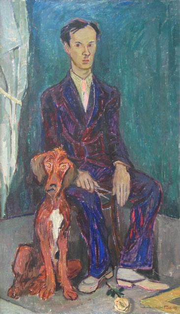 Туве Янссон. Портрет Рунара Энгблома с собакой