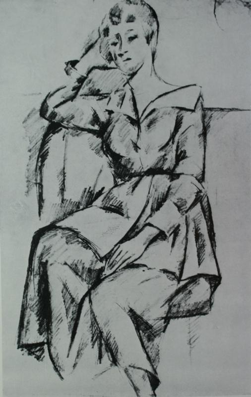 Alexander Alexandrovich Osmyorkin. Female portrait. State Tretyakov Gallery.