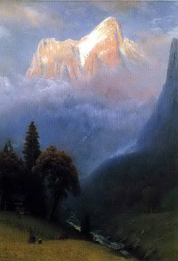 Albert Birštadt. Storm in the Alps