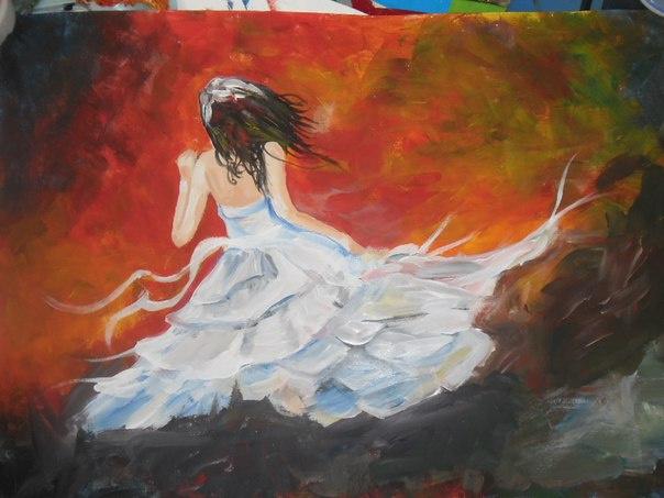 Svetlana. The girl in the wind