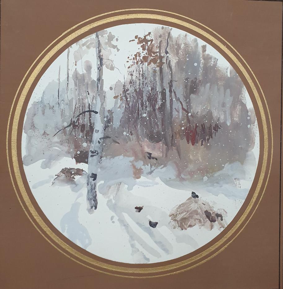 David Pilko. Winter in the forest