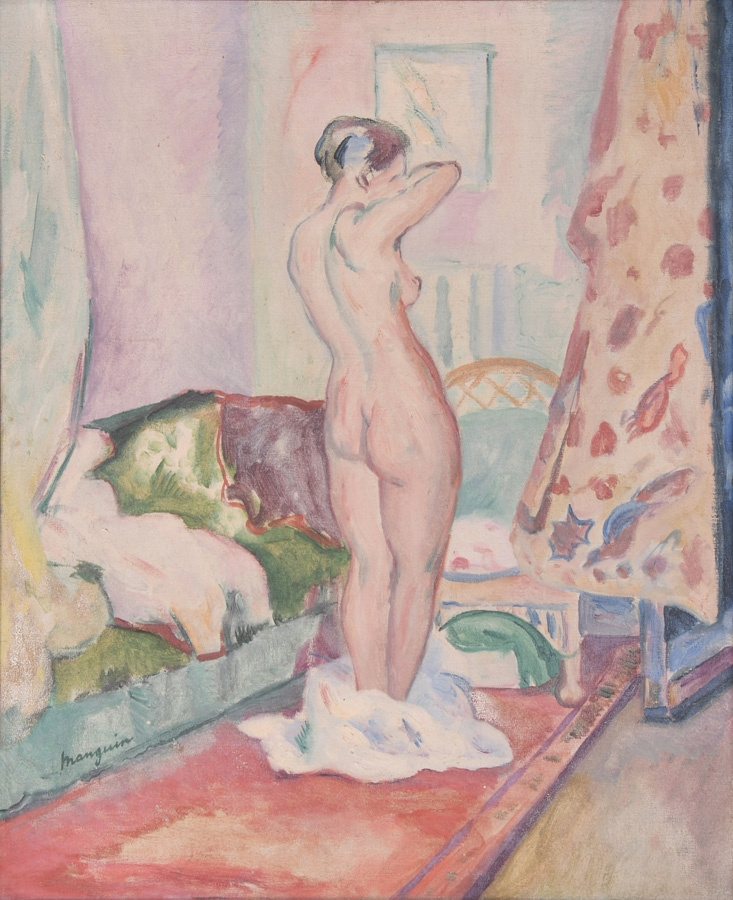 Henri Manguin. Standing Nude in the interior
