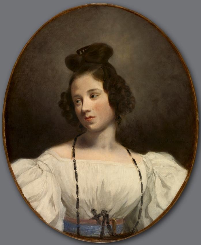 Eugene Delacroix. Portrait of Mademoiselle Alexandrina-Julia-de-La-Batre