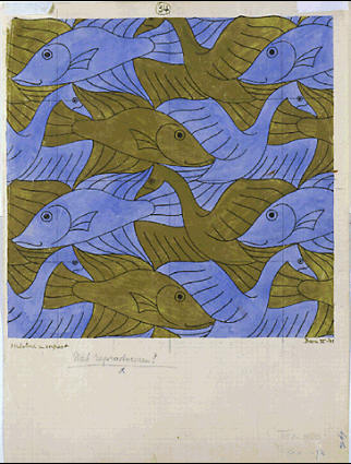 Мауриц Корнелис Эшер. Рыбы и птицы2
