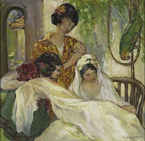 Анри Шарль Манген. Невеста с двумя женщинами и попугаем