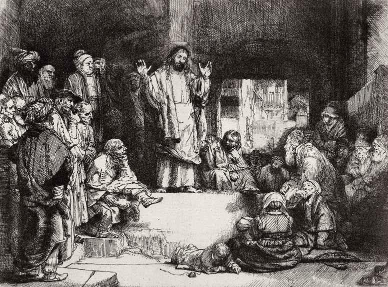 Рембрандт Харменс ван Рейн. Проповедь Христа
