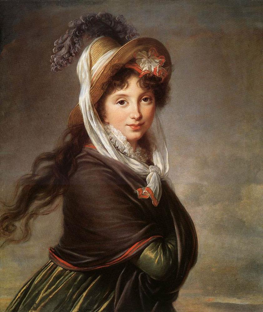 Elizabeth Vigee Le Brun. Portrait of a young woman