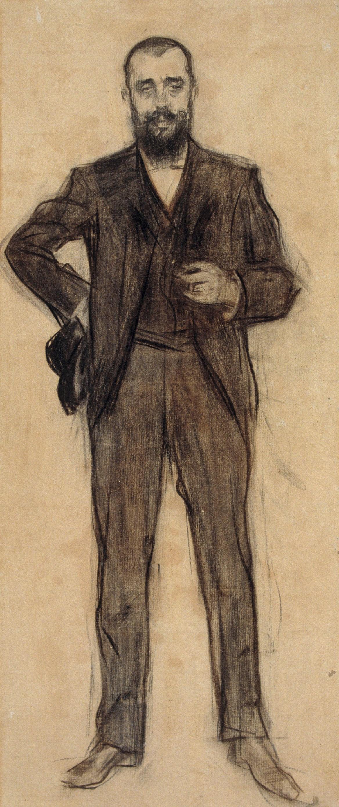 Ramon Casas i Carbó. Portrait of Agapit Wallmitian