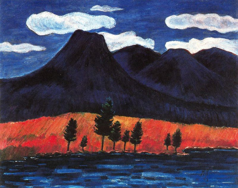 Marsden Hartley. The trees near the shore