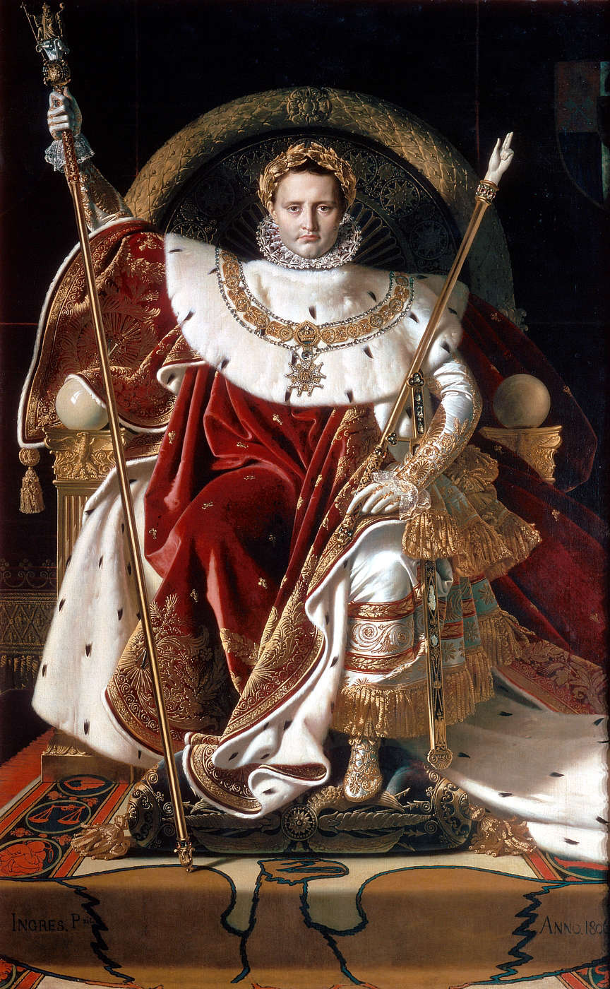 Jean Auguste Dominique Ingres. Portrait Of Napoleon I