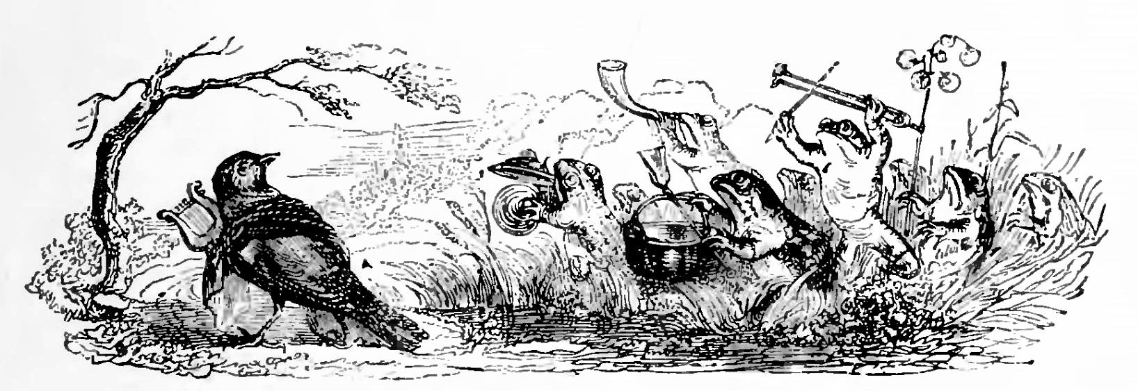 Жан Иньяс Изидор (Жерар) Гранвиль. Дневная и ночная музыка. Иллюстрации к басням Флориана