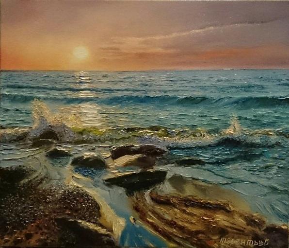 Evgeny Vladimirovich Terentyev. Sunset. Sea