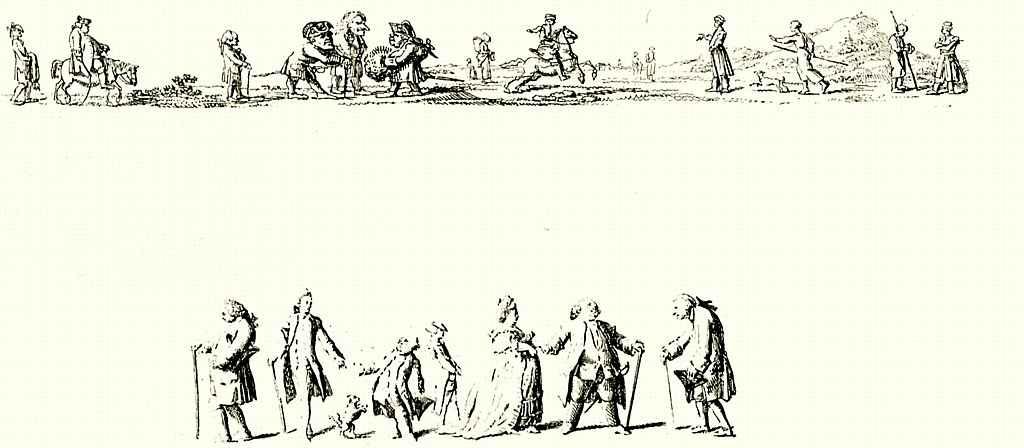 Даниэль  Николай Ходовецкий. Карикатуры