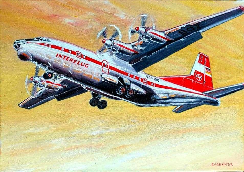 "Aviation Art. ""INTERFLUG"""