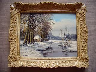 C. H. Beltman. Winter landscape with cottage.