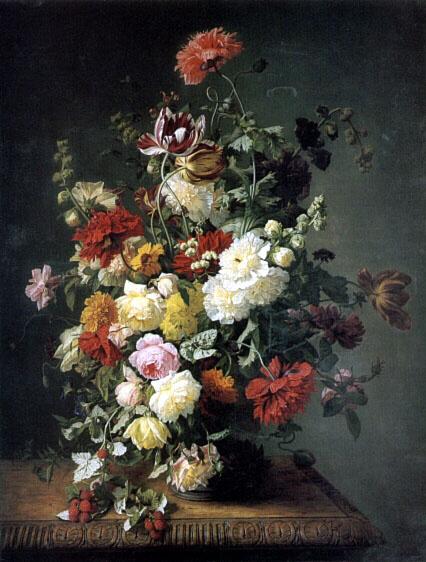 Джеан Симон Сент-Жан. Натюрморт с цветами