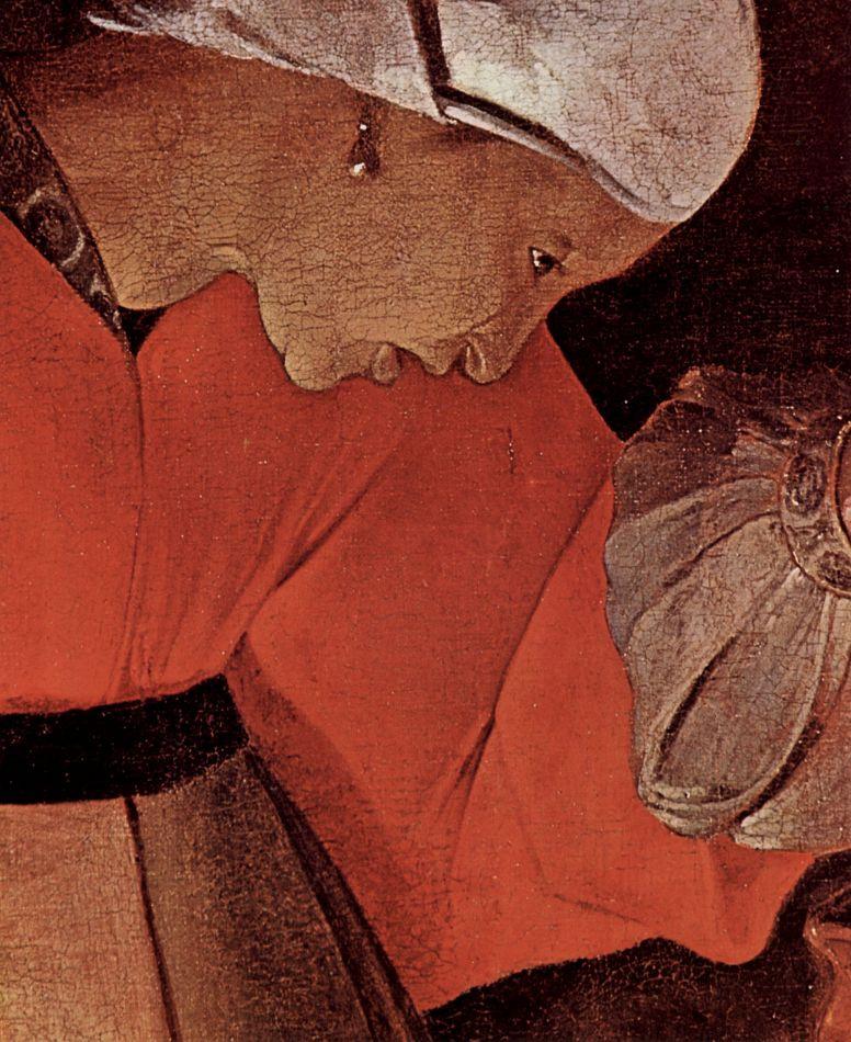 Жорж де Латур. Иов и его жена, фрагмент: профиль жены Иова