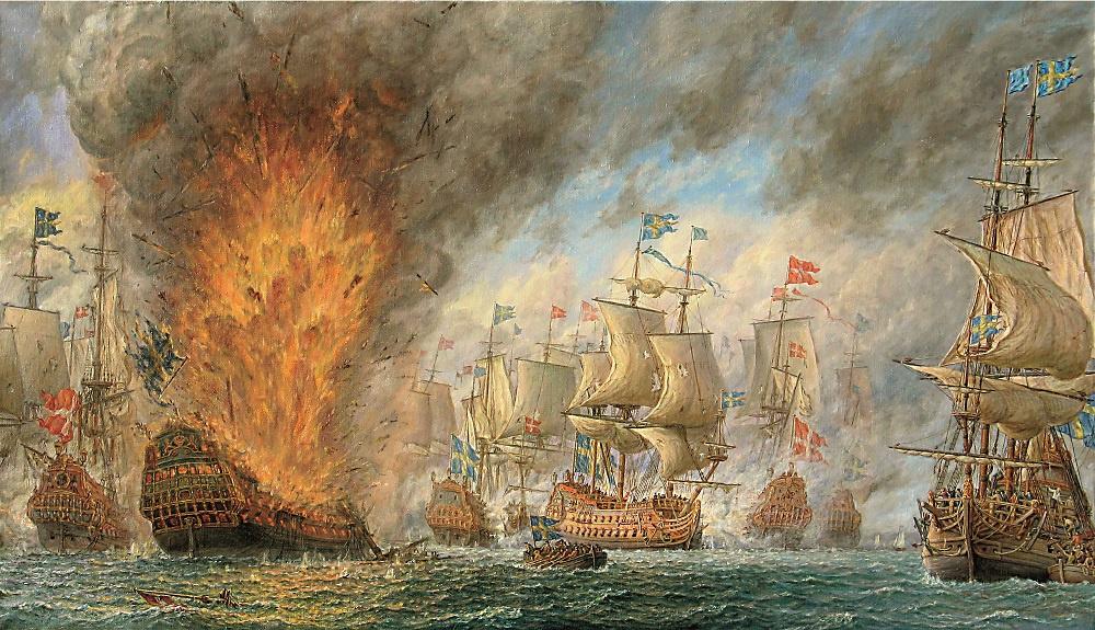 Владимир Михайлович Михайловский. Морская баталия у острова «Oland» в 1676 г.
