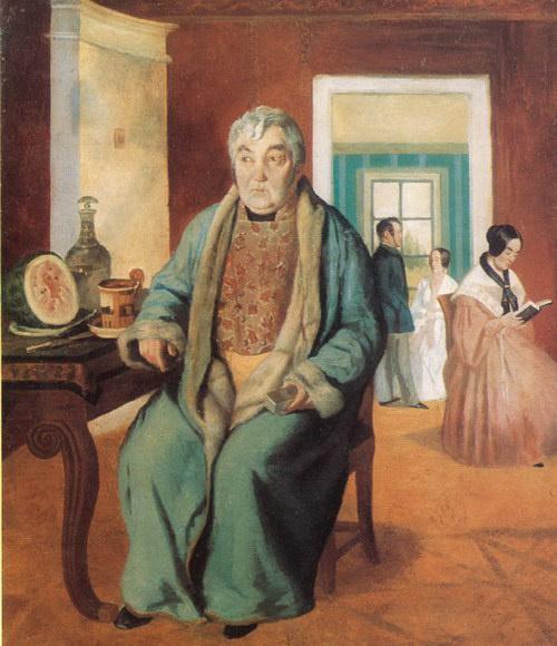 Лавр Кузьмич Плахов. Портрет А.С.Стромилова с семьей