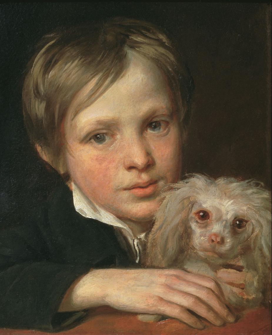 Alexander Grigorievich Varnek. The boy with the lapdog. 1800 State Tretyakov Gallery, Moscow