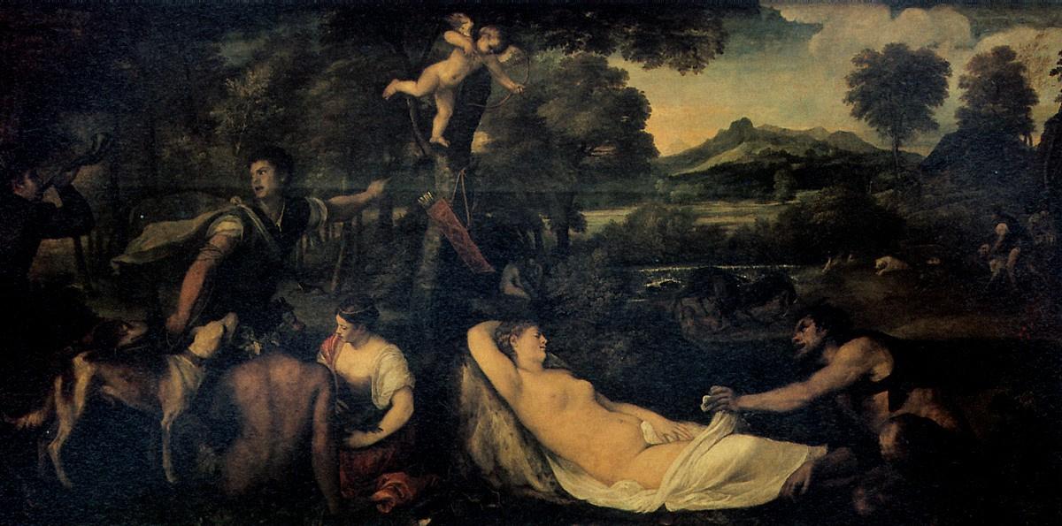 Тициан Вечеллио. Венера на леопардовой шкуре