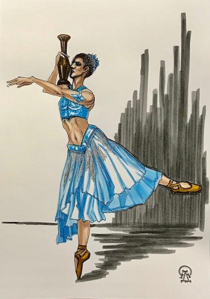 Larissa Lukaneva. Ballerina. Sketch.
